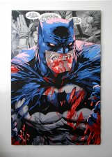 Handmade Batman wall hanging, Batman wood wall art