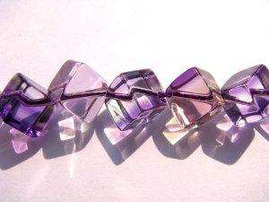 AA+ 2strands 8 10mm Ametrine quartz gemstone  Amethyst Citrine rock crystal cube box  jewelry beads