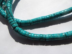 High quality 2strands 4-10mm  Turquoise stone  Rondelle Abacus handmade smooth  Blue Green yellow turquoise beads