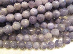 wholesale 5-6mm full strand genuine Tanzanite gemstone,round ball purple blue grey tanzanite  jewelry bead