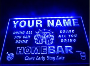 tm-15- Name Personalized Custom Family Home Brew Mug Cheers Bar Beer Neon Sign hang sign home decor crafts