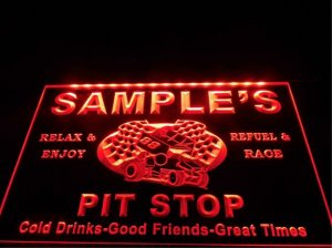 tm-43- Name Personalized Custom Pit Stop Man Cave Bar Neon Beer Sign hang sign home decor crafts