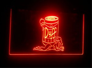 jb-044 Duff Simpsons Beer Bar Display LED Neon Light Sign
