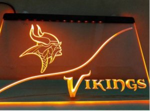 b-278 Minnesota Vikings beer bar pub club 3d signs LED Neon Light Sign