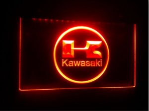 TR-28 kawasaki beer bar pub club 3d signs LED Neon Light Sign