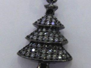 Wholesale 6pcs  Micro Pave Diamond Snow Flake Pendant  Finding  Snow Tree Pave diamond Pendant- Gunmetal  Pave Arrrowhead