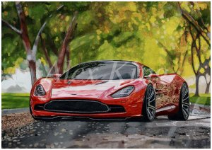 Realistic car drawing to order. Only handmade. Custom Drawing. Original drawing.Picture