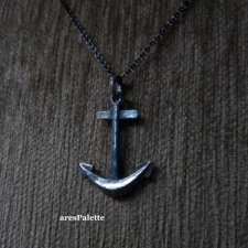 Anchor Necklace-Handmade-925 silver-Oxidised Anchor Necklace
