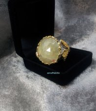 Yellow Sapphire Ring-Special Design Handmade-Sterling Silver Sapphire Ring