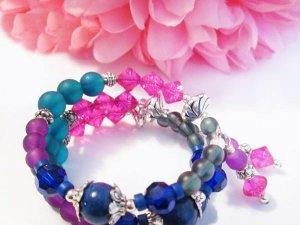 Lapis Lazuli Gemstone Bracelet, Coil Bracelet, Multi Color Bracelet, Wrap Around Bracelet, Lapis Lazuli Gemstone Bracelet, Colorful Bracelet