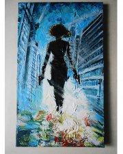 Black Widow, Avengers, Marvel, Comics, infinity war, Original painting, acrylic painting, movie painting, marvel art
