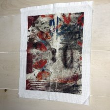 Embroidered Picture: Butterfly eyes. Cross Stitch, Handmade