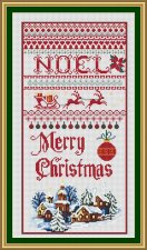 A Christmas Sampler is now a 14 count cross stitch kit with DMC and Anchor and Ariadna Threads