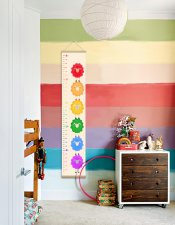Rainbow growth chart, Rainbow Pride baby, Nursery wall decor, Height Chart Sheeps, Rainbow LGBT Baby
