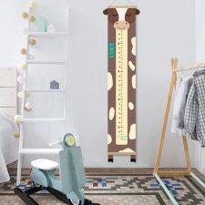 Growth chart cow, Cow decor child, Height chart canvas, Custom height meter, Nursery print