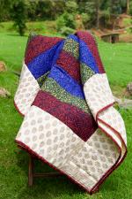 Maroon Quilt | Twin Quilt | Quilt | Cotton Quilt | Patchwork Quilt | Indian Quilt | Handmade Quilt | Quilt From India