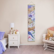 Growth chart, Growth ruler, Gift for baby, nursery decor, Botanic wall decor, flower