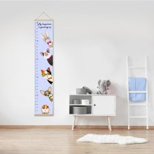 Growth chart, Growth ruler, Gift for baby, nursery decor, pets picture, wall decor, height