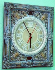 Wooden clock - Provence