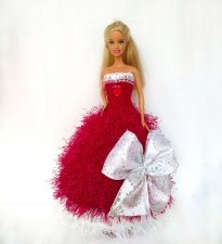 Handmade clothes for fashion dolls Knitted dresses for Barbie New collection