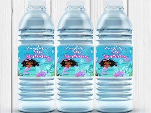 Mermaid Party , Mermaid Labels, Mermaid Birthday Party, Mermaid Water Bottle Labels, Mermaid, Water Bottle, Digital