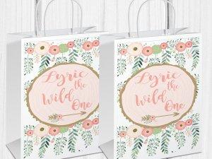 Wild One Gift Bag, Wild One Birthday, Wild One Treat Bag, Wild One Favors, The Wild One,  1st Birthday, Custom Gift Bag