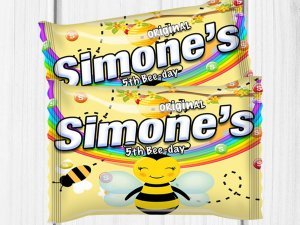 Bee Birthday Party, BumbleBee Treat, Bee Party Favors, Skittles Labels, Bee Favors, Bee Party Ideas, Candy Labels, Digital