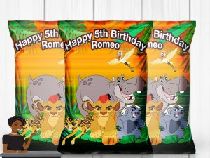 Lion Guard Birthday Party, Chips Included, Lion King, Party Favor, Chips Bag, Party Decor, Kids, Toddler, 1st Birthday
