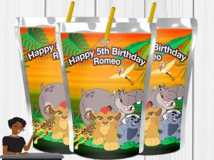 Lion Guard Juice Label, Lion Guard Birthday, Party Favors, Party Decor, Kids, Toddler, 1st, 2nd, 3rd, 4th, 5th Birthday Juice Labels