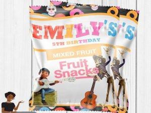 Coco Fruit Snacks, Coco Birthday,  Coco Party Favor, Coco Party Decor, Coco Custom Wrapper, Printable, Digital