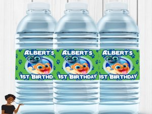 Puppy Dog Pals Water Bottle Label, Puppy Dog Pals Birthday, Puppy Dog Pals Party Favors, Custom Water Bottle Label, Digital or Printed and S