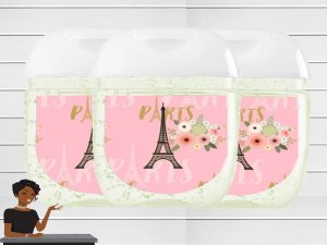 Paris Sanitizer Label, Paris Baby Shower, Paris Birthday Party, Sweet 16 Birthday Party, Paris Party Favors, Digital or Printable