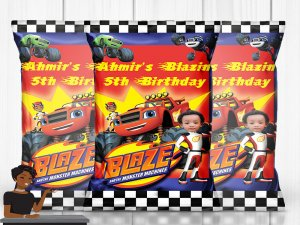 Blaze and the Monster Machines Party, Blaze and the Monster Machines Theme, Chip Bag, Party Favor, Party Decor, Chips Included