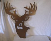 Deer Head Metal Wall Art Silhouette