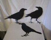 Raven Crow Collection Metal Wall Art Silhouette Set of 3
