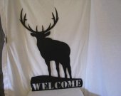 Elk Welcome Metal Wall Art Silhouette