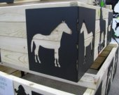 Horse 1 Raise Flower Bed Corner Kit Metal Silhouette