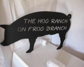 Hog Ranch Silhouette Metal Farm  Wall Art