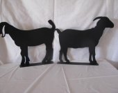 Goat Mail Box Topper Set of 2 Metal Wall Art Farm Silhouette