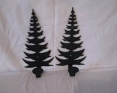 Tree 001 Towel/Coat Rack Metal Wall Art Silhouette Set of (2)
