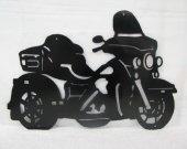 Motorcycle 010 Silhouette Metal Wall Art