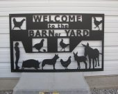 Custom Farm Yard Metal Wall Art Sign Silhouette