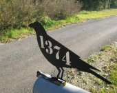 Raven Crow Mailbox Topper Metal Wall Yard Art Wildlife Silhouette