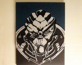 Handmade Garrus Vakarian, Mass Effect portrait