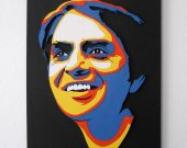 Handmade Portrait of Carl Sagan, wall art
