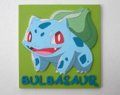 Handmade Bulbasaur, Pokemon wall piece