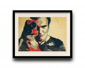 Quentin Tarantino poster, Quentin Tarantino digital art poster