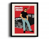 Death Proof minimalist poster, Death Proof digital art poster