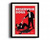 Reservoir Dogs minimalist poster, Reservoir Dogs digital art poster