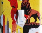 Braniff Airways CHICAGO Lion Switch Plate (single)